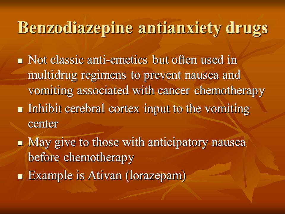 Benzodiazepine antianxiety drugs