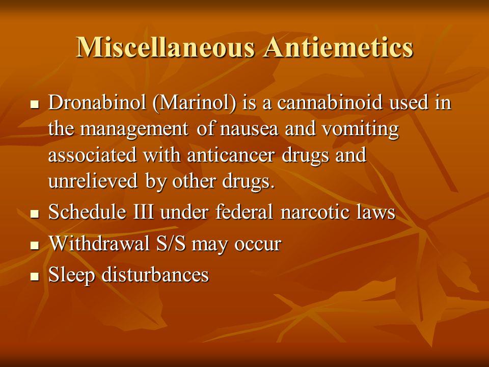 Miscellaneous Antiemetics