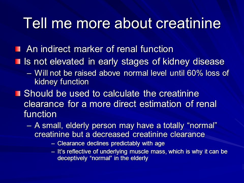 Tell me more about creatinine