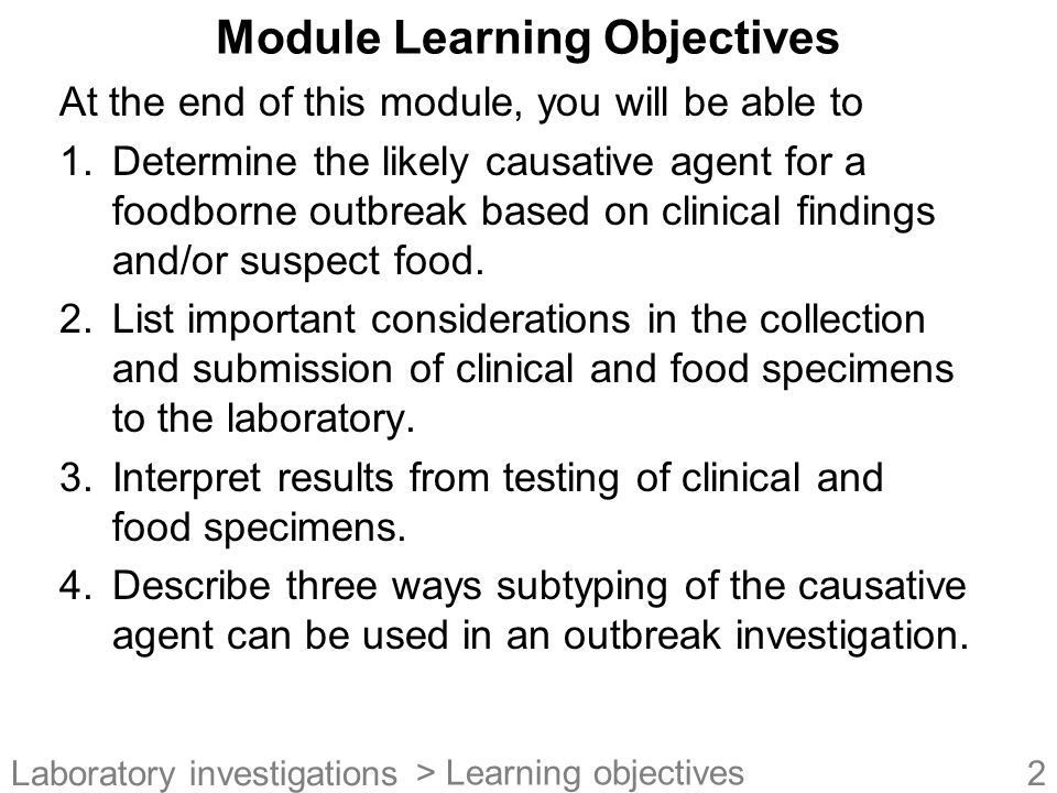Module Learning Objectives