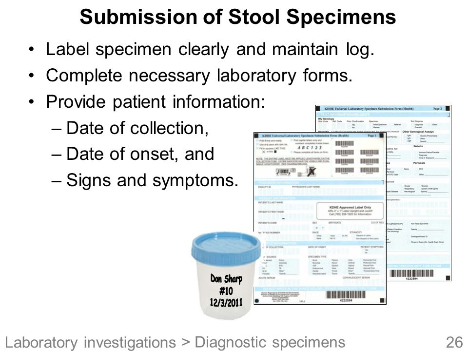 Submission of Stool Specimens