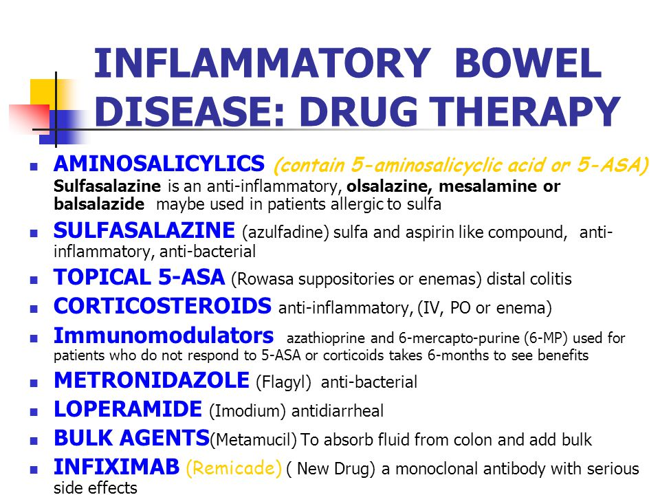 INFLAMMATORY BOWEL DISEASE: DRUG THERAPY
