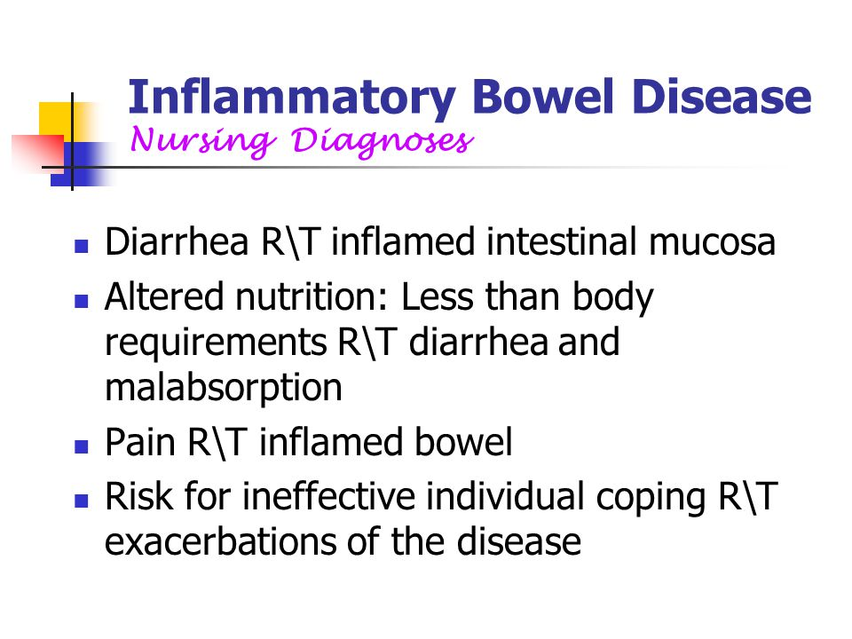 Inflammatory Bowel Disease Nursing Diagnoses