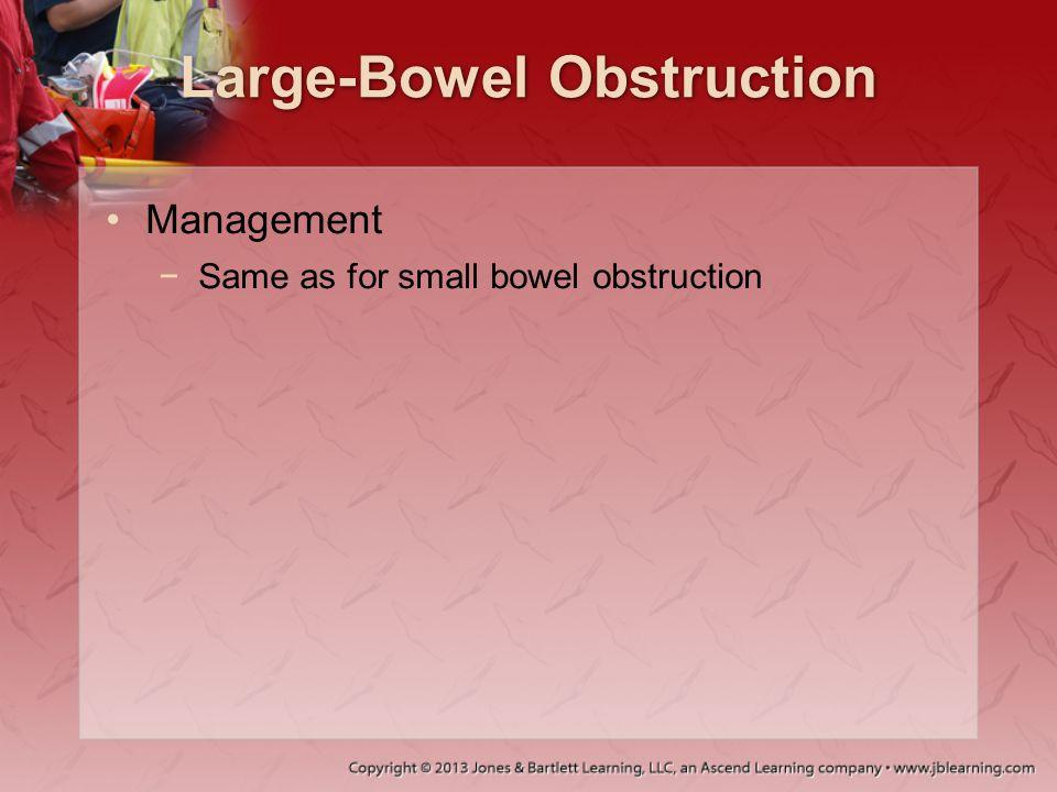 Large-Bowel Obstruction