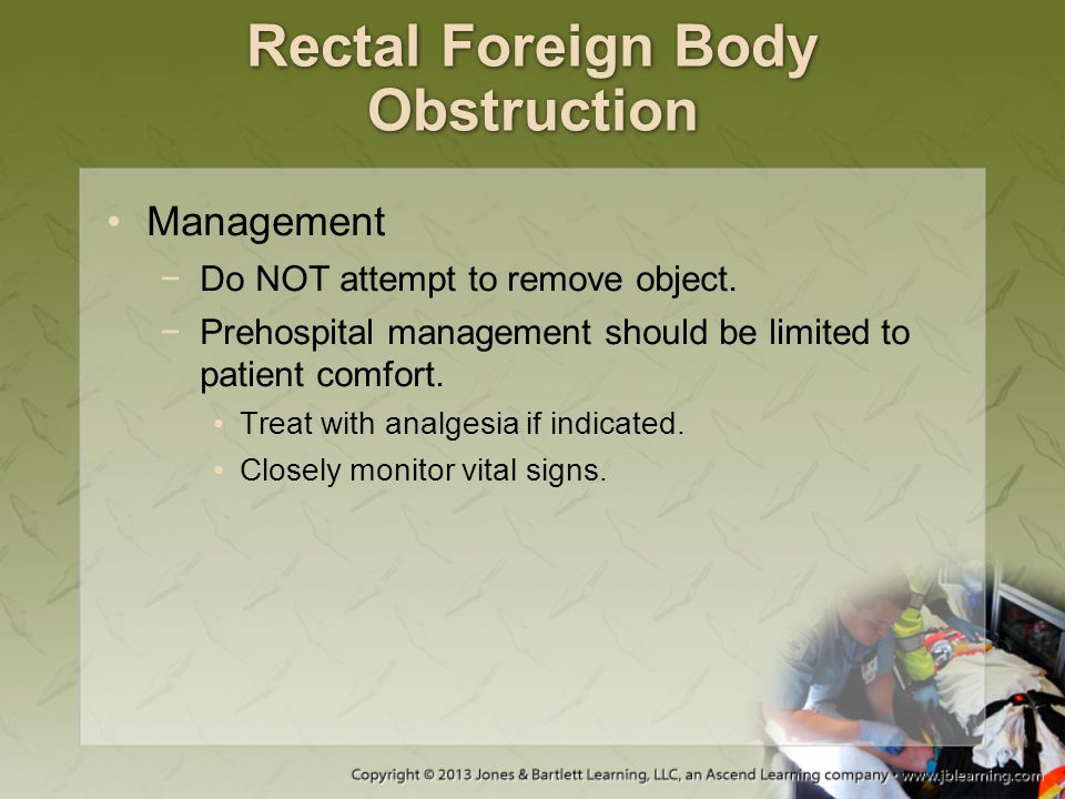 Rectal Foreign Body Obstruction