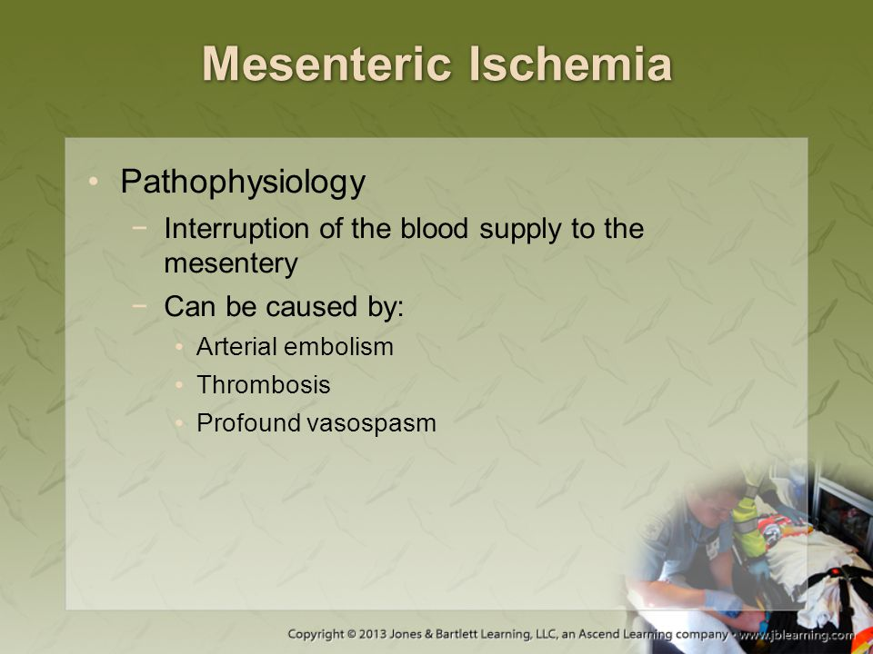 Mesenteric Ischemia Pathophysiology
