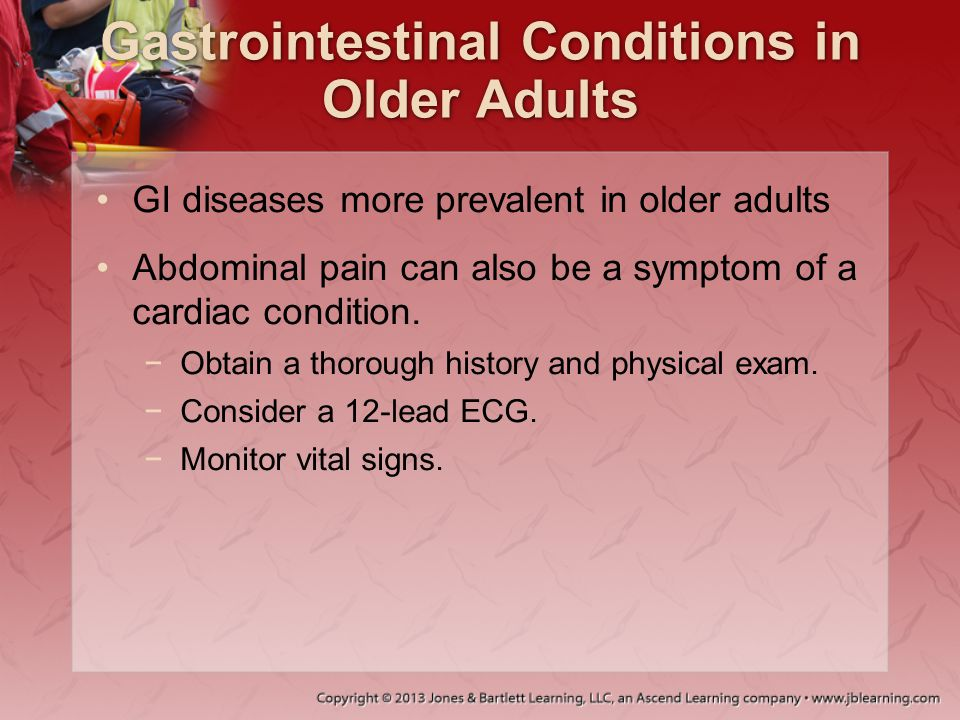 Gastrointestinal Conditions in Older Adults