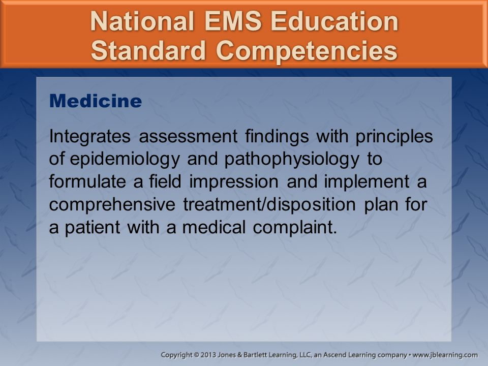 National EMS Education Standard Competencies