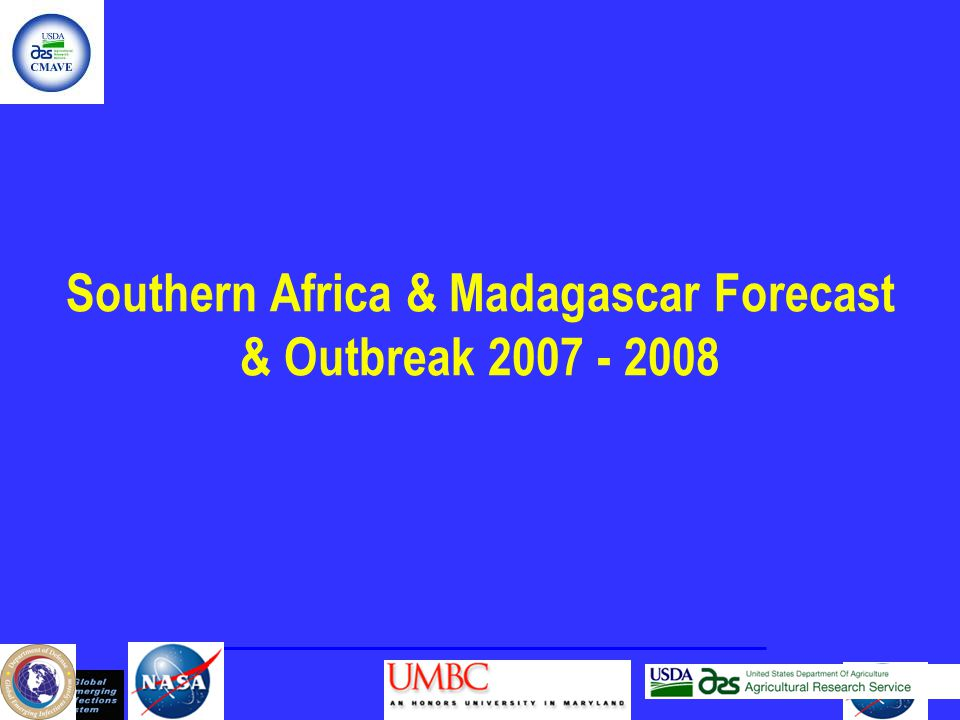 Southern Africa & Madagascar Forecast & Outbreak 2007 - 2008