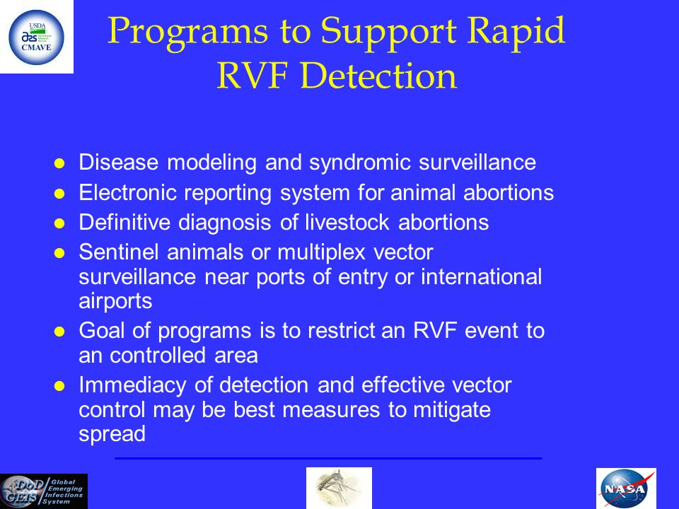 Programs to Support Rapid RVF Detection