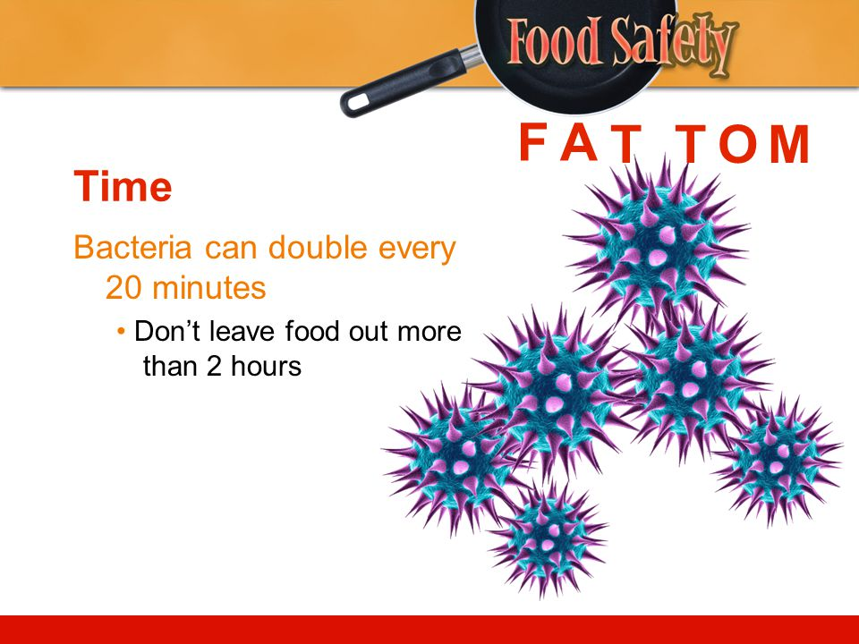 F A T T O M Time Bacteria can double every 20 minutes