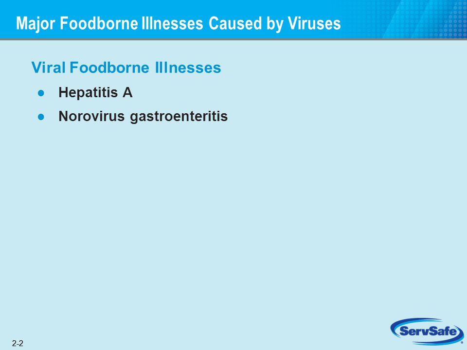 Major Foodborne Illnesses Caused by Viruses