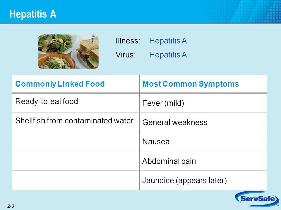 Hepatitis A Illness: Hepatitis A Virus: Hepatitis A