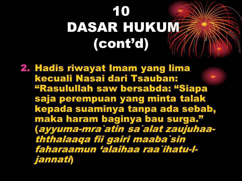 10 DASAR HUKUM (cont'd)