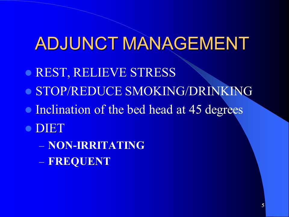ADJUNCT MANAGEMENT REST, RELIEVE STRESS STOP/REDUCE SMOKING/DRINKING