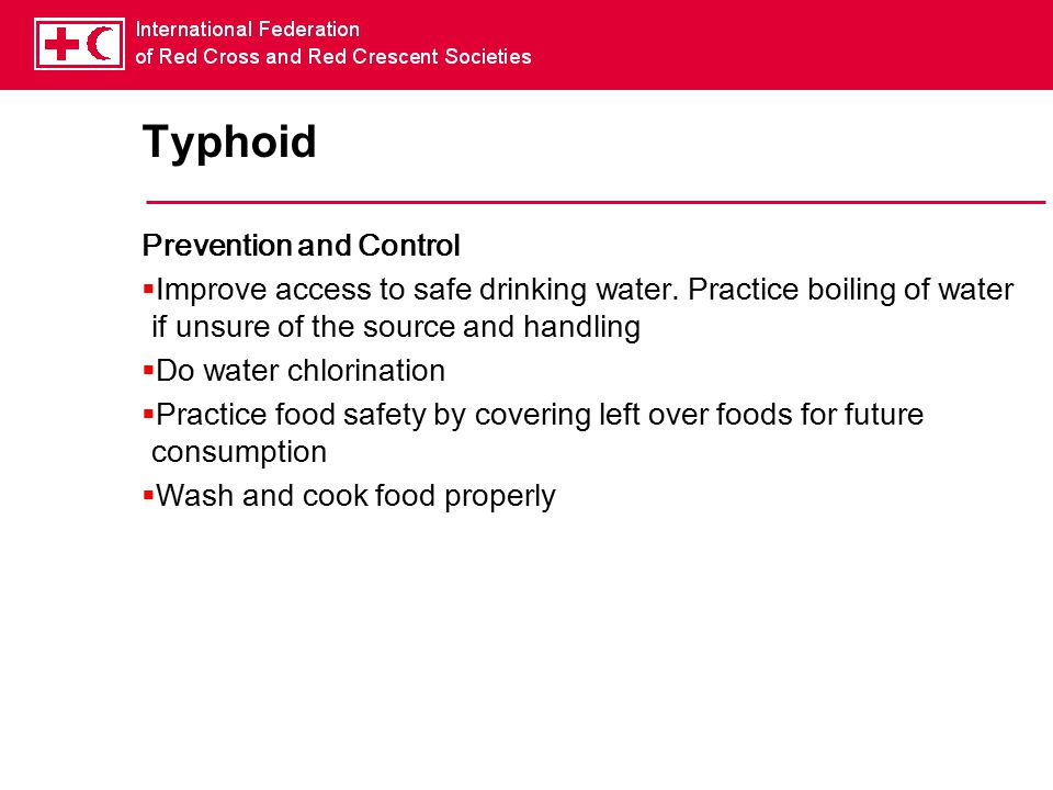 Typhoid Prevention and Control
