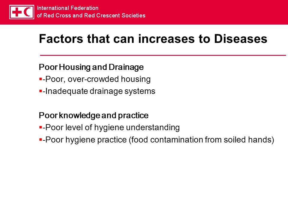 Factors that can increases to Diseases