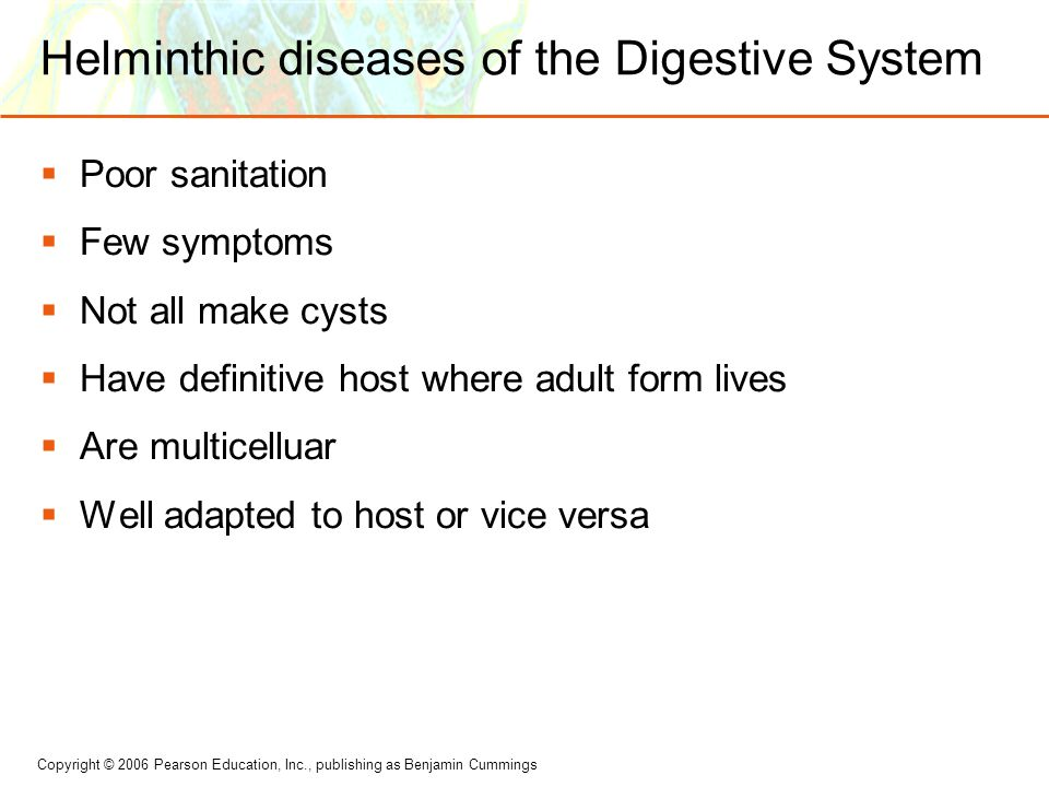 Helminthic diseases of the Digestive System