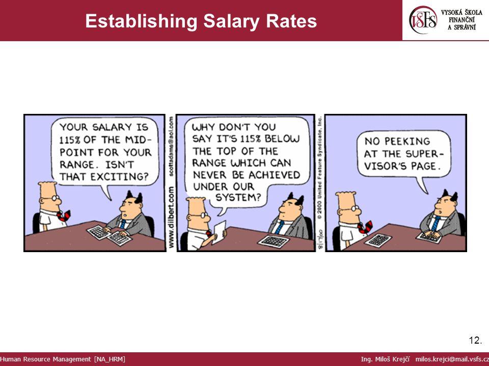 Establishing Salary Rates