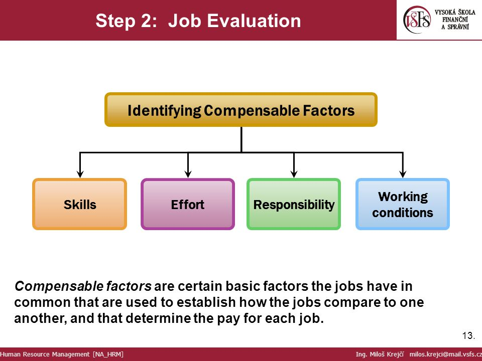 Identifying Compensable Factors