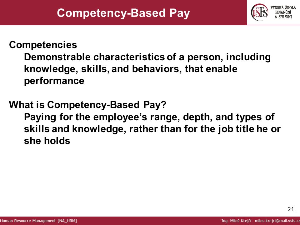 Competency-Based Pay Competencies