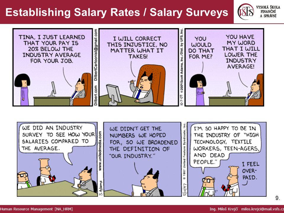 Establishing Salary Rates / Salary Surveys