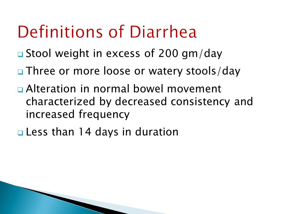 Definitions of Diarrhea