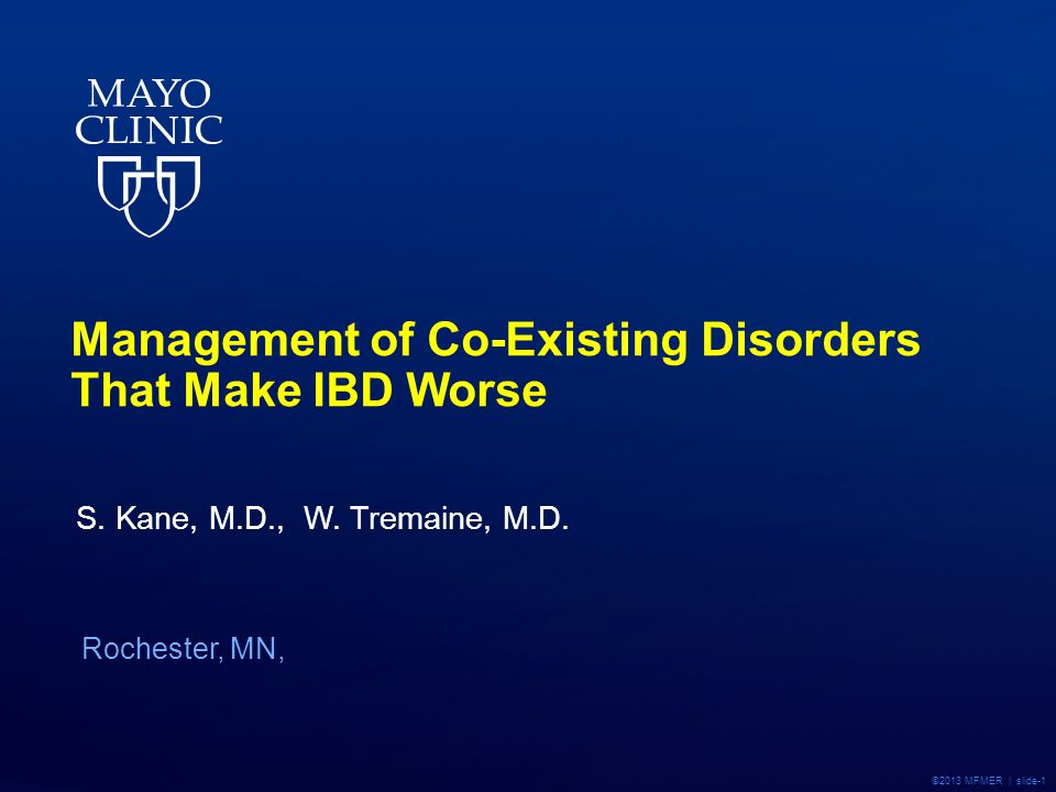 Management of Co-Existing Disorders That Make IBD Worse