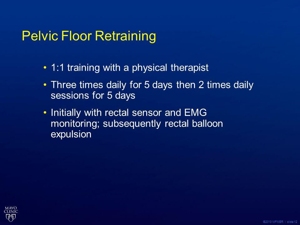 Pelvic Floor Retraining