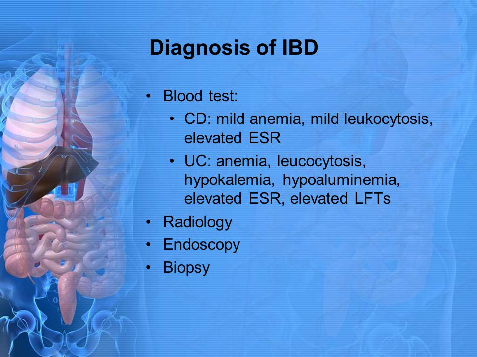 Diagnosis of IBD Blood test:
