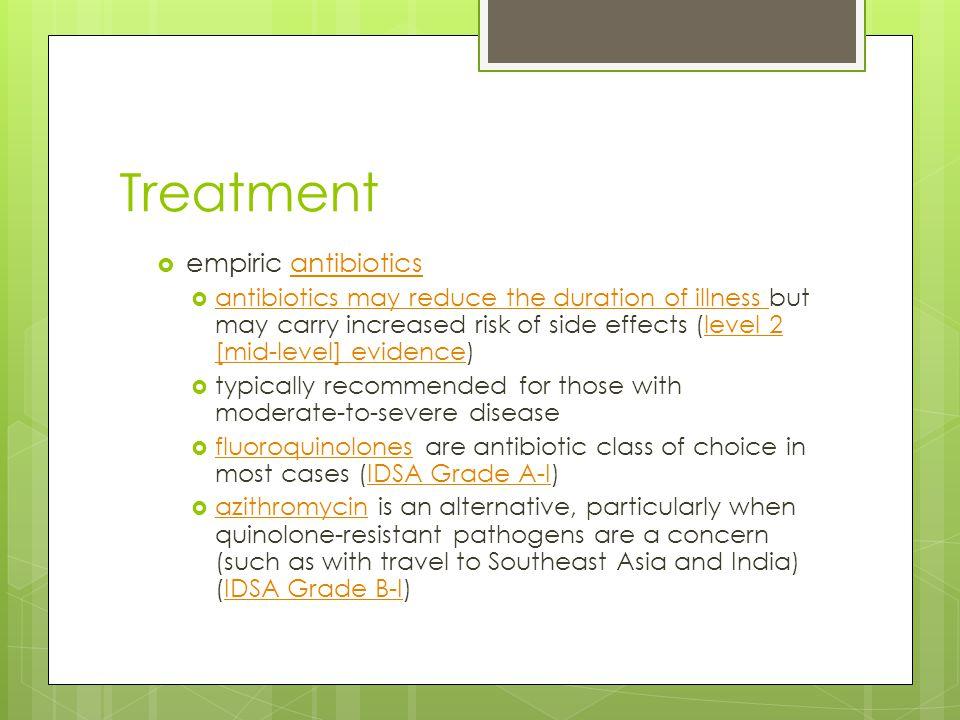 Treatment empiric antibiotics