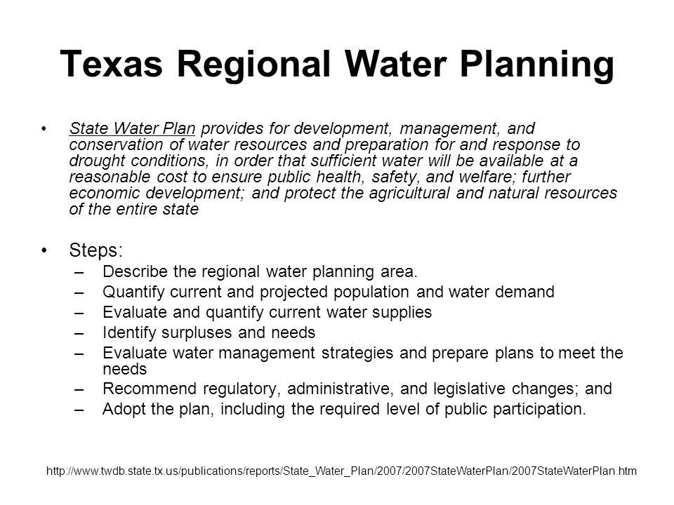 Texas Regional Water Planning
