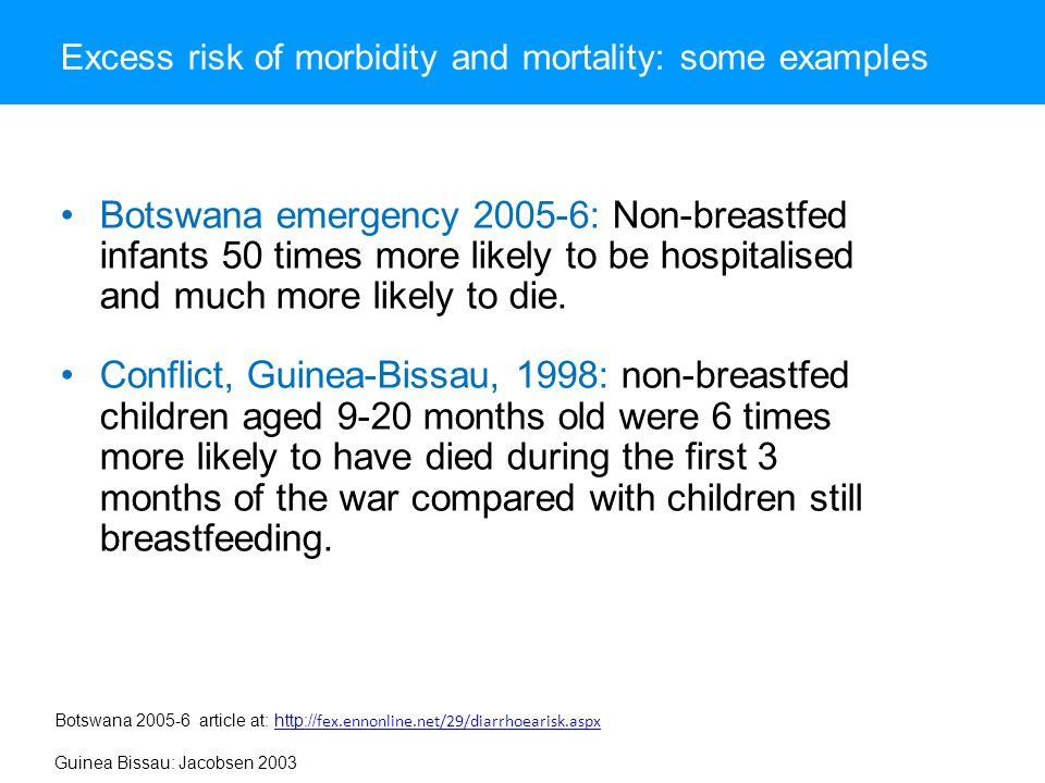 Excess risk of morbidity and mortality: some examples