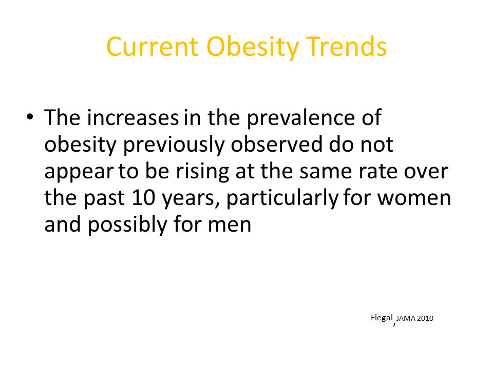Current Obesity Trends