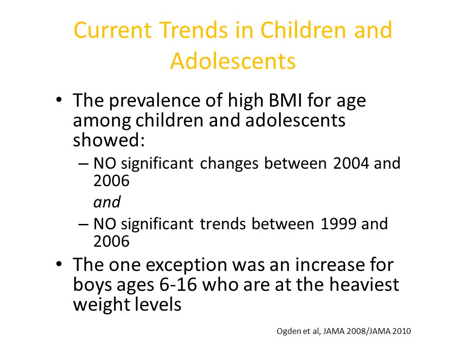 Current Trends in Children and Adolescents