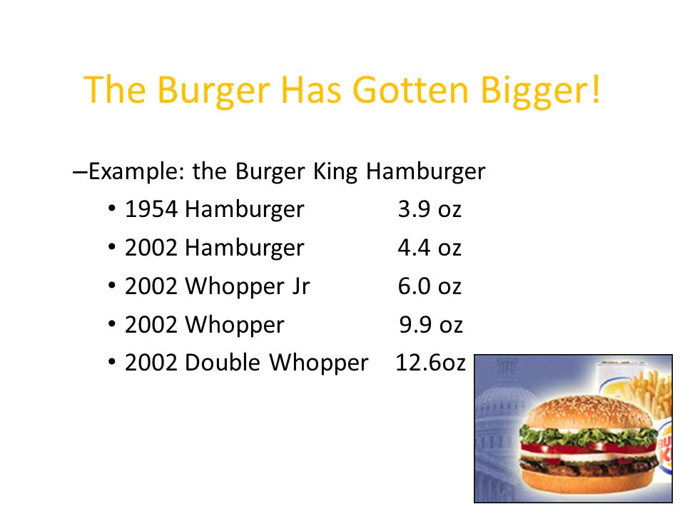 The Burger Has Gotten Bigger!