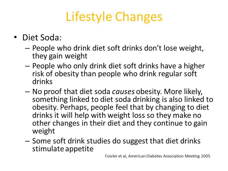 Lifestyle Changes Diet Soda: