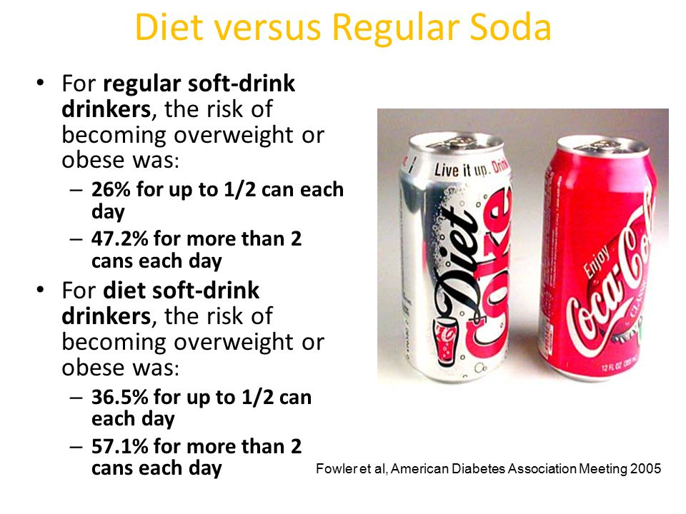 Diet versus Regular Soda