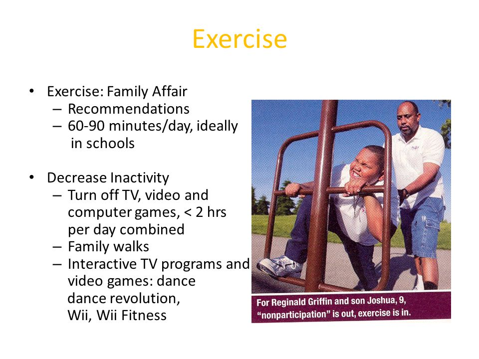 Exercise Exercise: Family Affair Recommendations