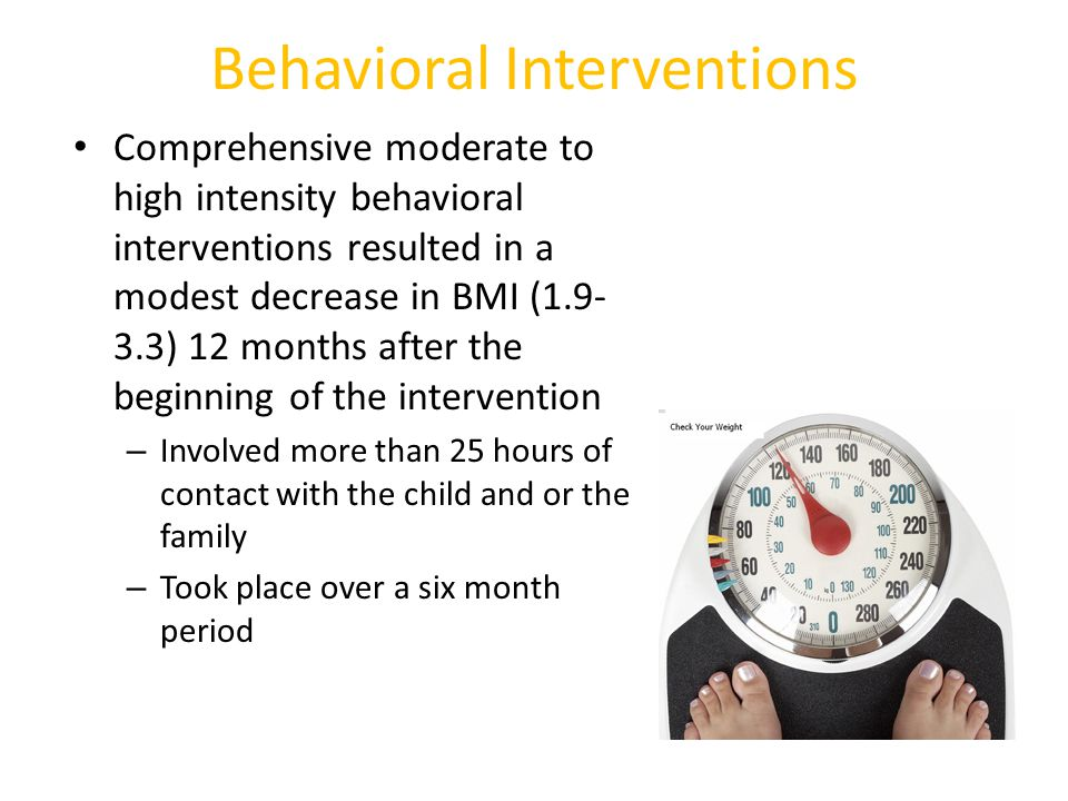 Behavioral Interventions