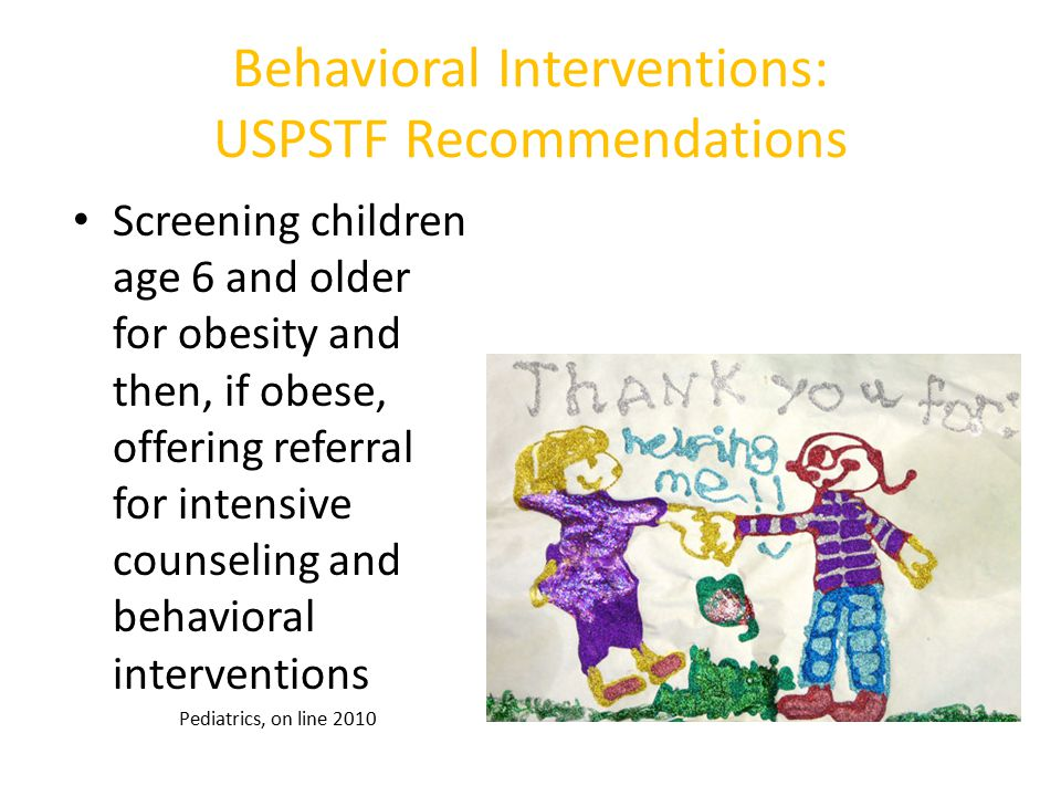 Behavioral Interventions: USPSTF Recommendations