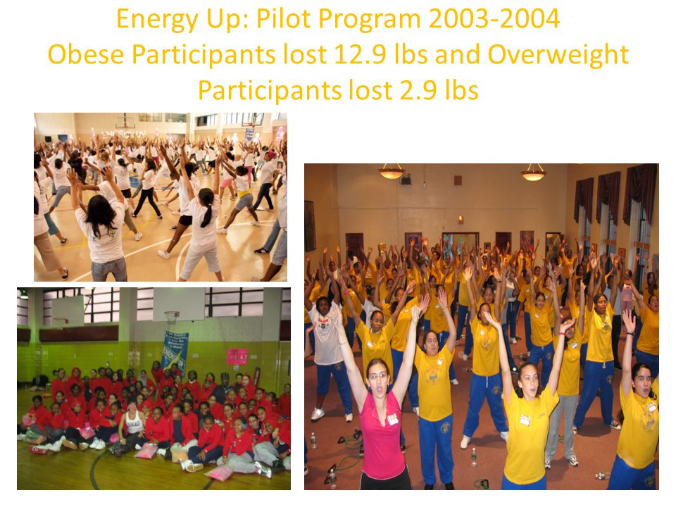Energy Up: Pilot Program 2003-2004 Obese Participants lost 12