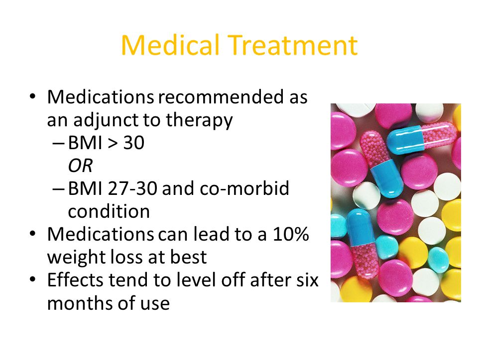 Medical Treatment Medications recommended as an adjunct to therapy