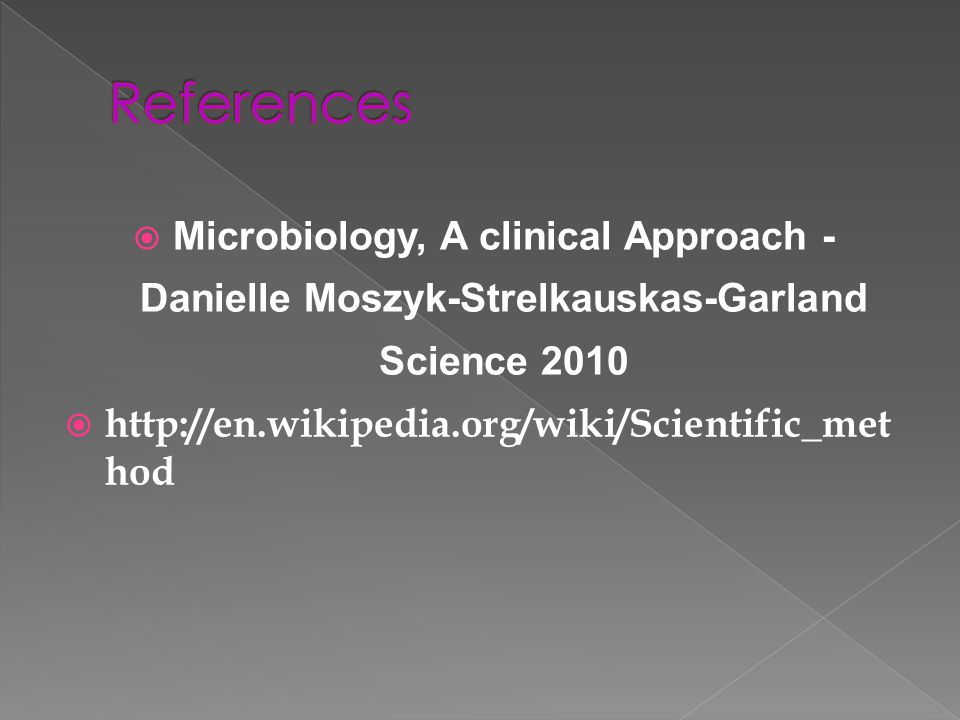 References Microbiology, A clinical Approach -Danielle Moszyk-Strelkauskas-Garland Science 2010.