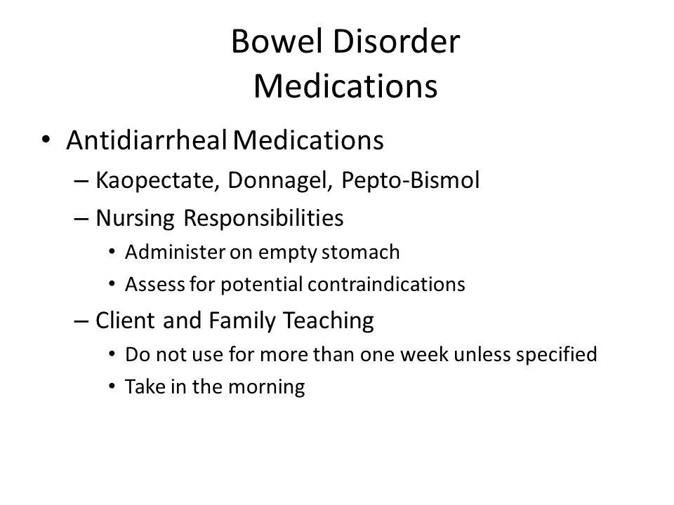Bowel Disorder Medications