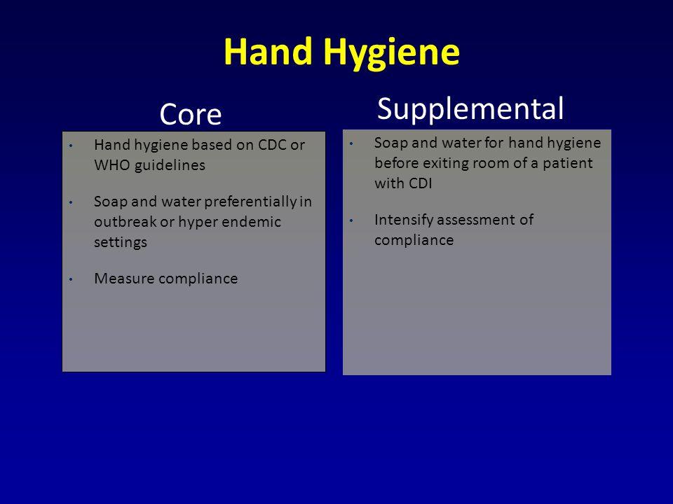 Hand Hygiene Supplemental Core