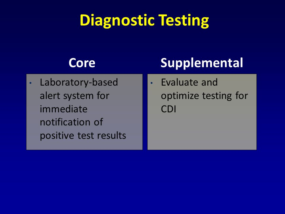 Diagnostic Testing Core Supplemental