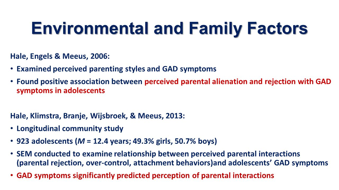 Environmental and Family Factors