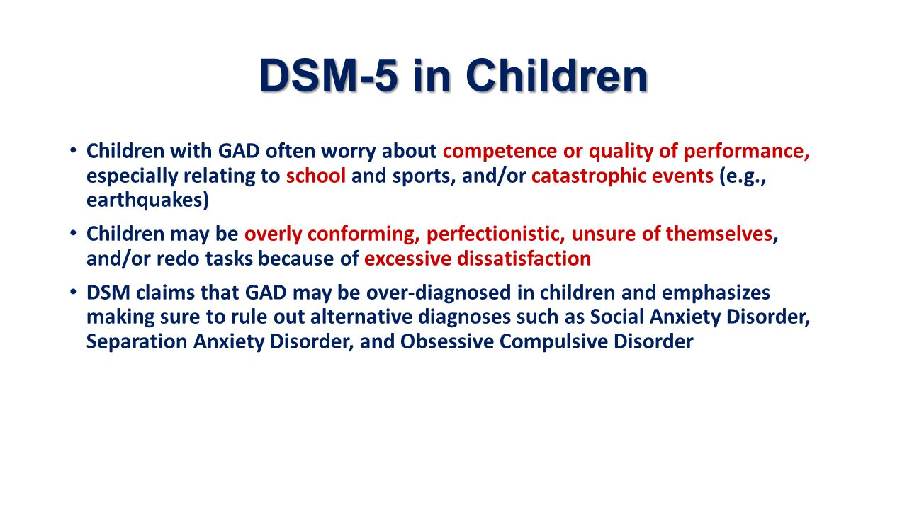 DSM-5 in Children