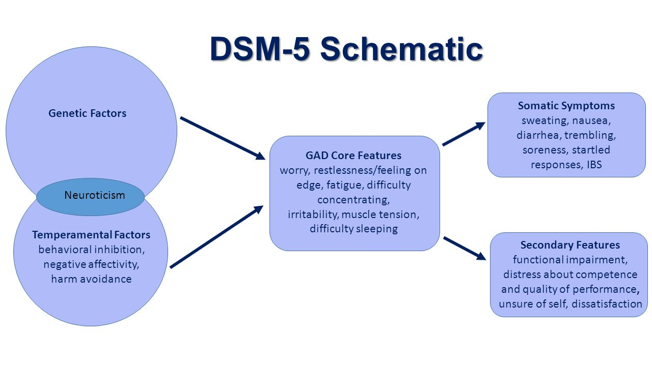 DSM-5 Schematic Somatic Symptoms Genetic Factors